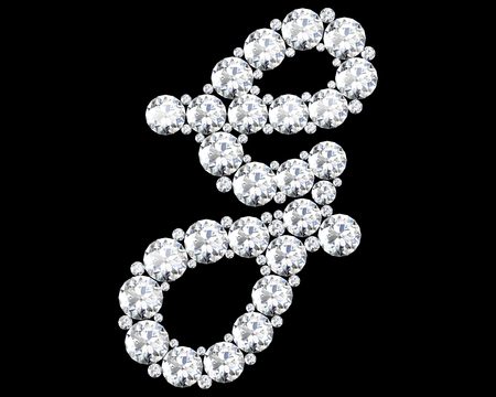 g alphabet: A stunning beautiful G set in diamonds. Illustration