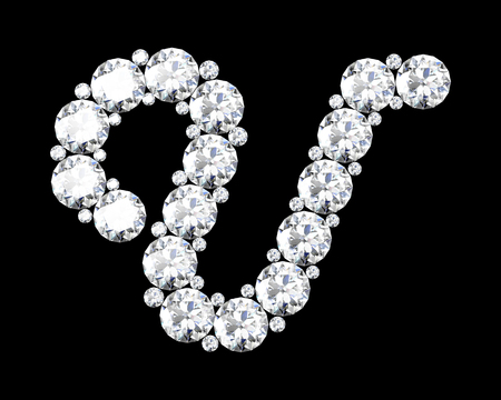 stunning: A stunning beautiful U set in diamonds. Illustration