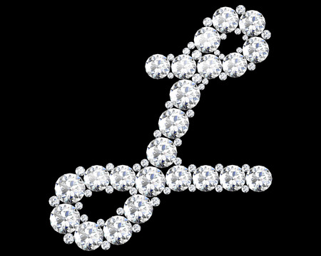 l: A stunning beautiful L set in diamonds. Illustration