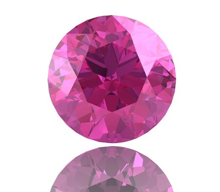 scintillate: Pink sapphire.(high resolution 3D image)