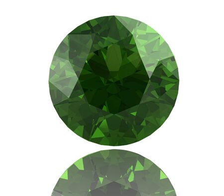 stetting: Peridot gem on white background (high resolution 3D image)