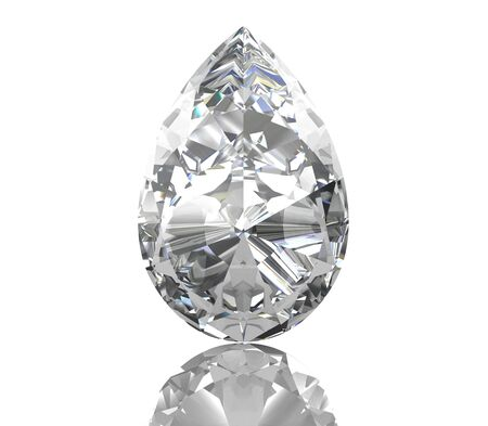 scintillate: diamond jewel on white background. High quality 3d render
