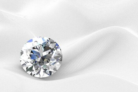 scintillation: diamond jewel on white background. High quality 3d render