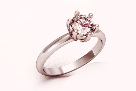 platinum style: The beauty wedding ring (high resolution 3D image) Stock Photo