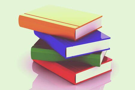 multi: Stack of multi colored books