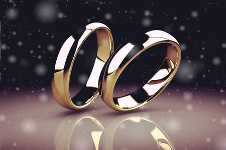 wedding ring: The beauty wedding ring (high resolution 3D image) Stock Photo