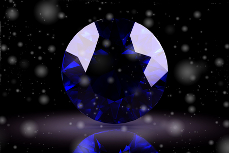 stetting: blue sapphire on white background