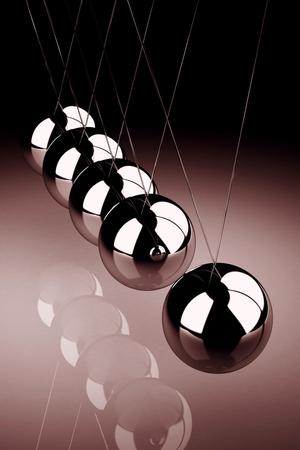 バランス ボール ニュートンの揺りかご (高解像度 3 D 画像)