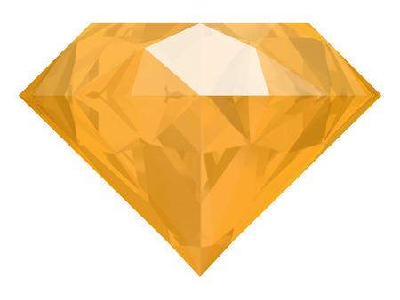 zafiro: yellow sapphire on white background (high resolution 3D image) Foto de archivo