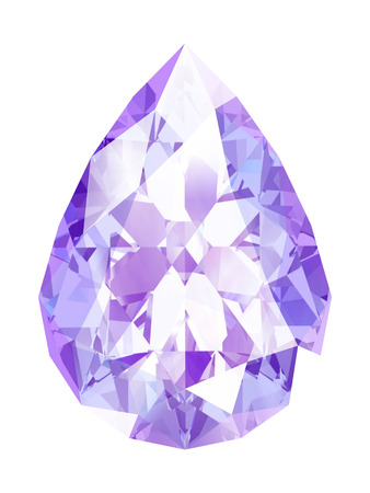 zafiro: amethyst on white background (high resolution 3D image) Foto de archivo