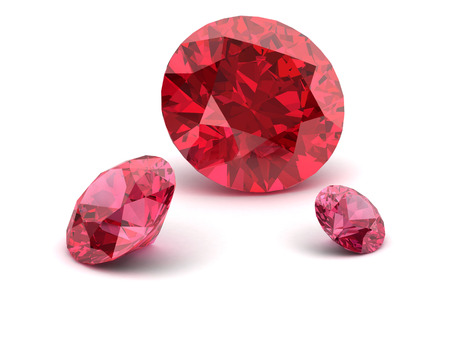 ruby: Shiny white ruby illustration (high resolution 3D image) 3D illustration