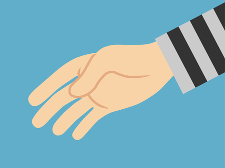 Thieves Hand Stealing. vector illustration.