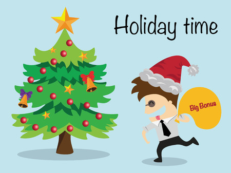 Businessman relaxing holiday time ,vector