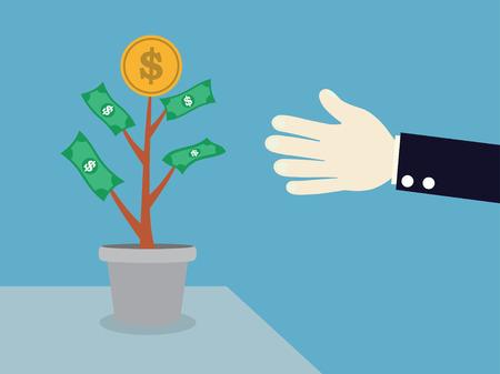 dividend: interest and dividend concept. vector illustration. Illustration