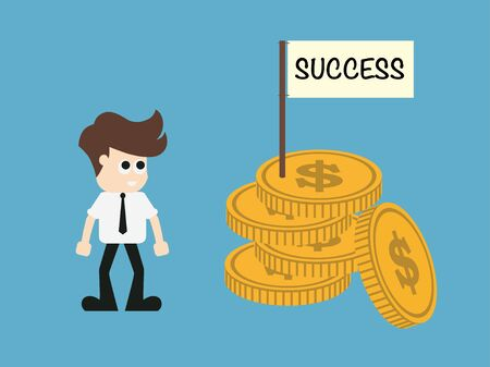Success finance concept.vector illustration.