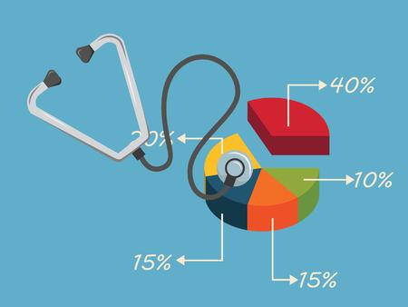 graph Chart growth concept.vector illustration. Vetores