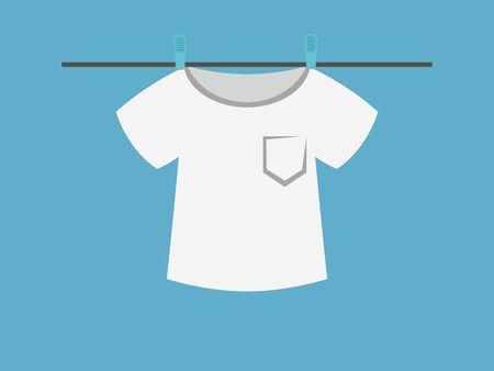 wet shirt: T-shirt. vector illustration. Illustration