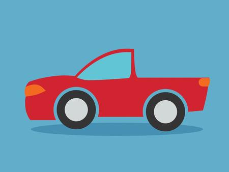 Pickup truck vector illustration