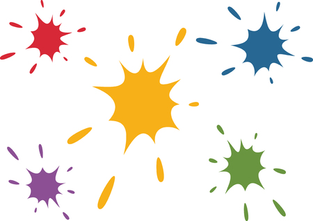 inkblot: Paint Splatters.Hand Drawn Splashes.Vector. Illustration