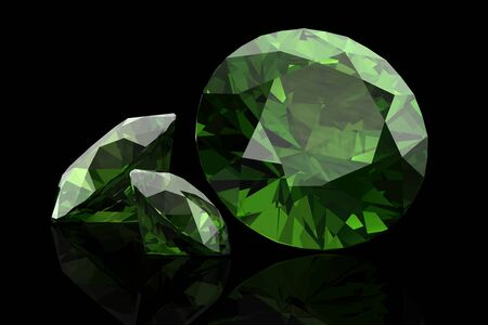 geological: Peridot (high resolution 3D image)