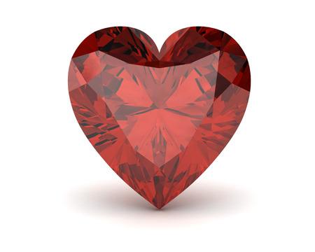 Ruby or Rodolite gemstone(high resolution 3D image)