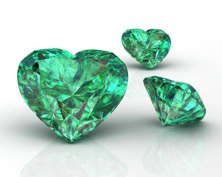 Shiny white emerald illustration (high resolution 3D image) 3D illustration