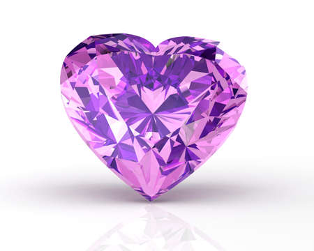 amethyst on white background. 3D illustration