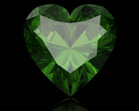 Peridot jewel (high resolution 3D image)