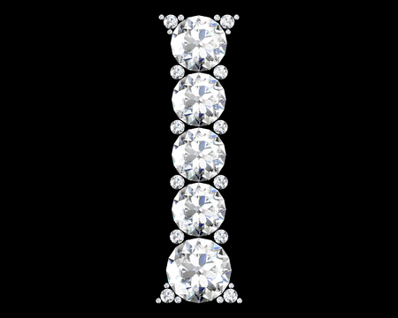 Diamond alphabet, letters from I Stock Photo