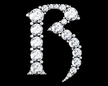 diamond letters: Diamond alphabet, letters from R Stock Photo