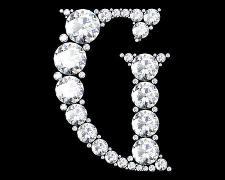 Diamond alphabet, letters from G Stock Photo