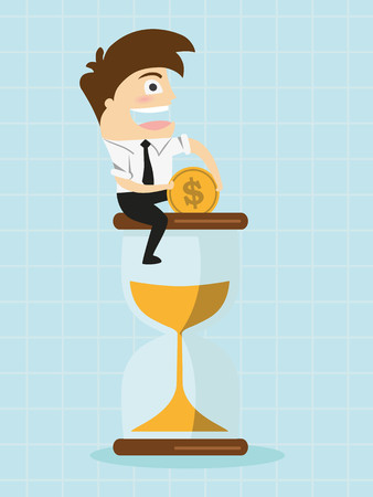 Gestion de temps Business Concept Cartoon Illustration