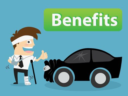 injured man .benefits concept Vector