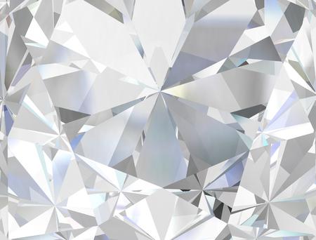 Close-up di diamante realistico, illustrazione 3D.