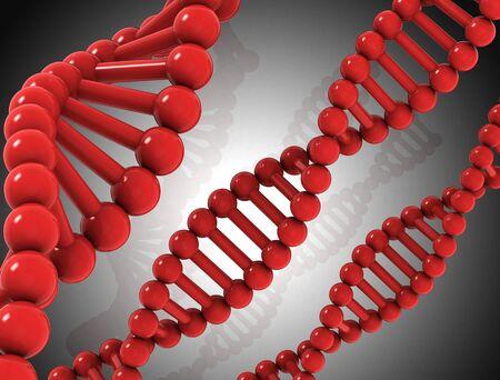 strand: DNA Background - 3D illustration