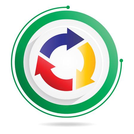 Three step cycle arrows diagram