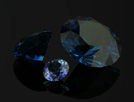 alexandrite on black background.3D illustration Stock Photo