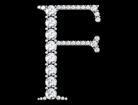(高解像度 3 D 画像) の宝石ダイヤモンド文字