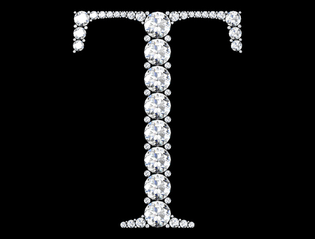 diamond letters with gemstones  (high resolution 3D image)