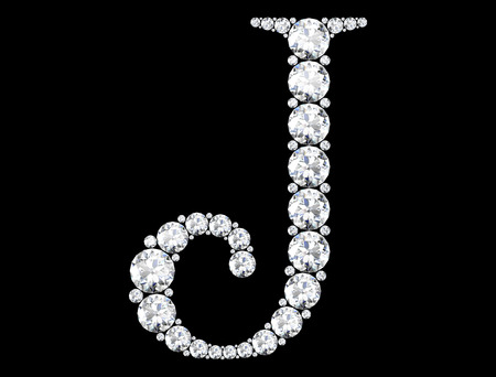 diamond letters with gemstones  (high resolution 3D image) Stok Fotoğraf - 81172183