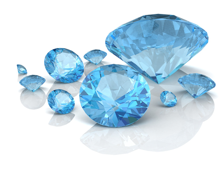 Aquamarine jewel (high resolution 3D image) Stock Photo