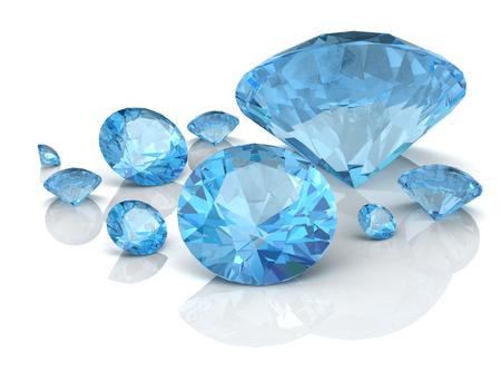 Bijoux aquamarine (image 3D haute résolution)