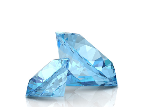 Aquamarine jewel (high resolution 3D image) Standard-Bild