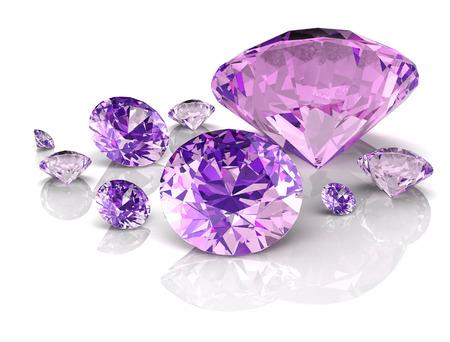 アメジスト宝石 ((高解像度 3 D 画像) 写真素材 - 81732350