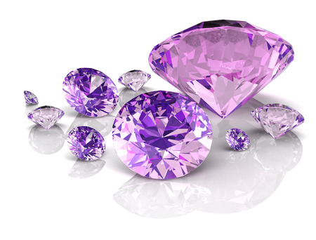 amethyst jewel ((high resolution 3D image) 免版税图像