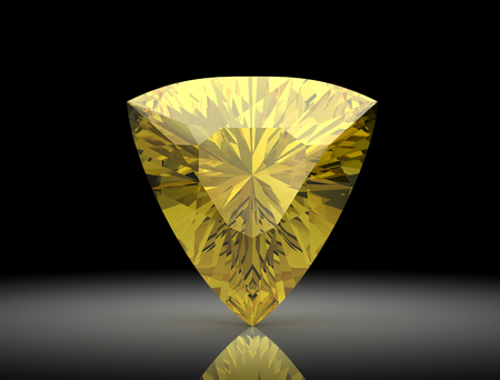 reflection: yellow sapphire (high resolution 3D image)