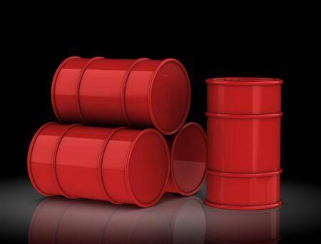 oil drum: Oil barrels on a white background.3D rendering