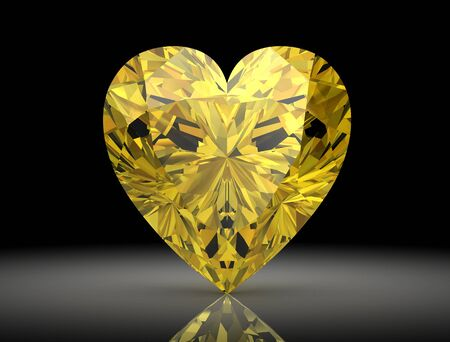 bright: yellow sapphire (high resolution 3D image)