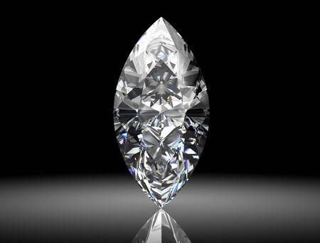 reflection: diamond jewel (high resolution 3D image)