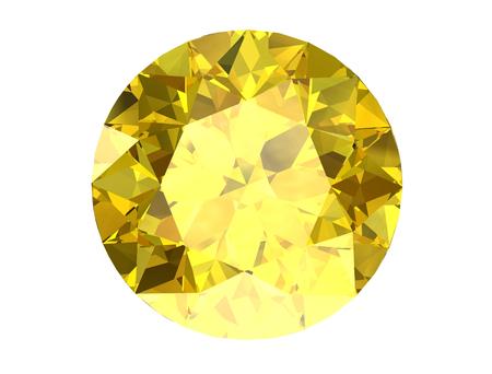 Shiny white yellow sapphire illustration (high resolution 3D image)